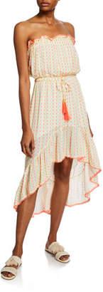 Tessora Anisa Strapless Flounce High-Low Dress