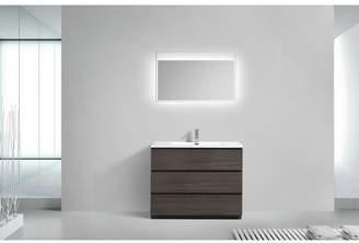 """Orren Ellis Riker Free Standing 42"""" Single Bathroom Vanity Set"""