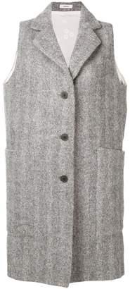 Lardini sleeveless single-breasted coat