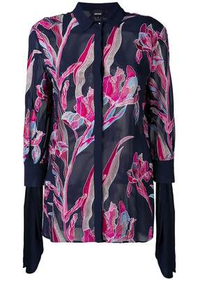 Just Cavalli embroidered flower shirt