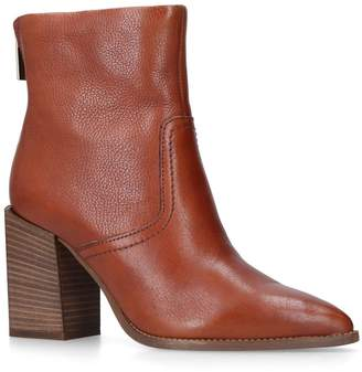 Carvela Leather Shot Western Ankle Boots 85