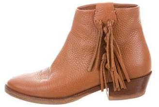 Valentino Fringe-Trimmed Ankle Boots