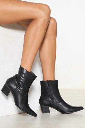 Nasty Gal Do You Get My Point Vegan Leather Boot