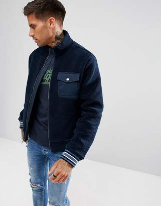 Original Penguin Borg Bomber Jacket In Navy