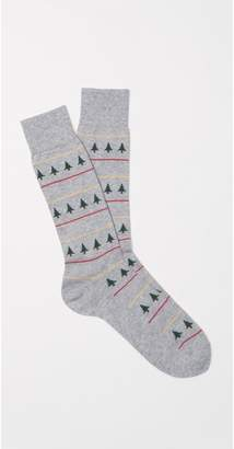 J.Mclaughlin Men's Fairisle Christmas Tree Socks