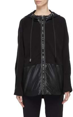 NO KA 'OI No Ka'Oi 'Niho' stripe sleeve patchwork oversized hooded jacket