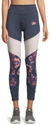 Nike Sportswear Essential Floral-Print Leggings