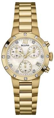 Bulova Women's Analog Quartz Diamond Bracelet Watch, 30mm - 0.08 ctw