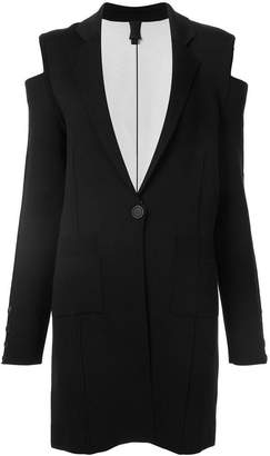Vera Wang cold shoulder knit coat