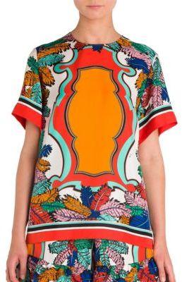 Emilio Pucci Silk Bermuda Printed Top