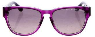 Marc by Marc Jacobs Striped Keyhole Sunglasses