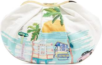 KILOMETRE PARIS X Isla Fontaine Miami-embroidered Sandolo clutch