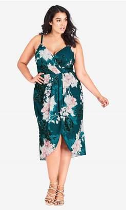 City Chic Citychic Jade Bloom Dress