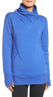 Zella Frosty Asymmetrical Zip Pullover $69 thestylecure.com