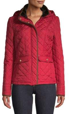 Weatherproof Faux Fur-Trimmed Quilted Jacket