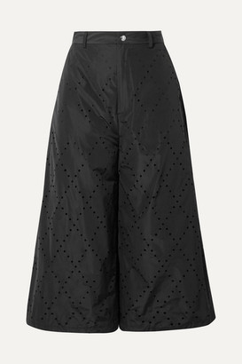 Noir Kei Ninomiya Moncler Genius - 6 Perforated Shell Culottes - Black
