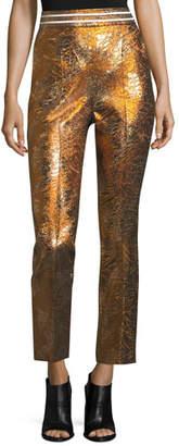 Peter Pilotto Cropped Metallic Jacquard Pants