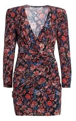IRO Fling Silk Floral Wrap Dress
