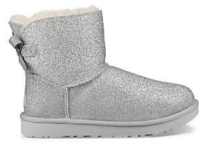 UGG Women's Mini Bailey Bow Sparkle Shearling Boots