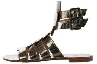 Robert Clergerie Metallic Cage Sandals