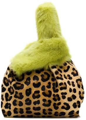 Simonetta Ravizza Furrissima leopard print tote
