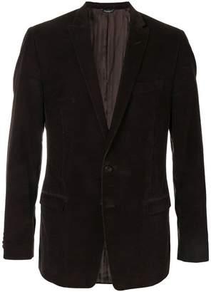 Dolce & Gabbana PRE-OWNED single breasted corduroy blazer