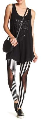 TOV Stripe & Mesh Panel Leggings