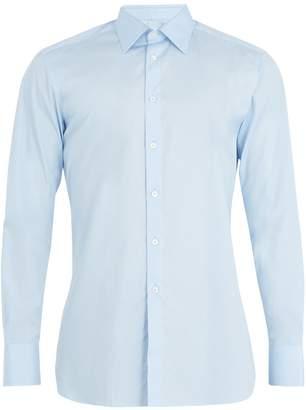 Kilgour Single-cuff cotton-poplin shirt