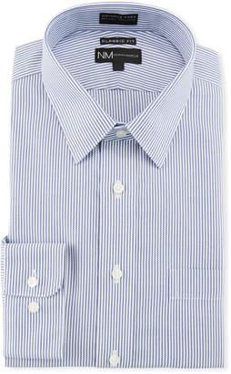 Neiman Marcus Men's Classic-Fit Non-Iron Texture Stripe Dress Shirt