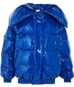 Glossed Quilted Down Jacket