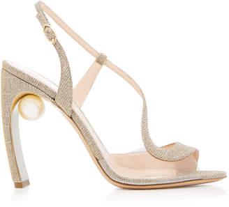 Nicholas Kirkwood Maeva Pearl-Embellished Metallic Sandals