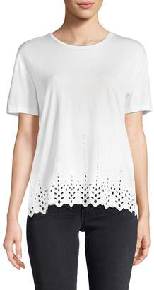 The Kooples Women's Eyelet Embroideries T-Shirt