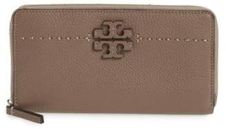 Tory Burch McGraw Leather Continental Zip Wallet