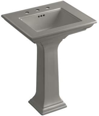 """Kohler Memoirs Ceramic 25"""" Pedestal Bathroom Sink with Overflow"""