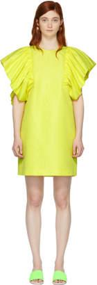 MSGM Yellow Ruffled Dress