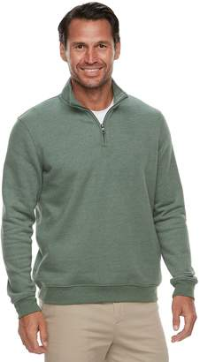 Croft & Barrow Men's Classic-Fit Quarter-Zip Fleece Pullover