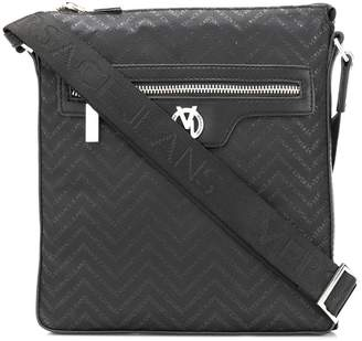 Versace logo print messenger bag