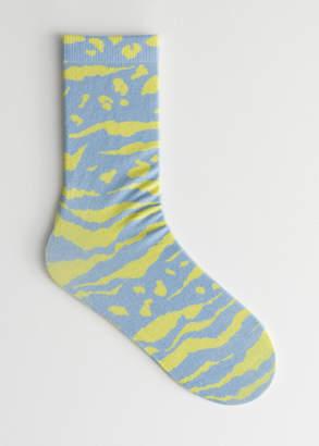 Animal Print Ankle Socks
