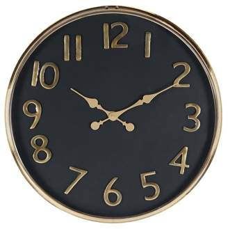 Brimfield & May Contemporary Stainless Steel Round Wall Clock