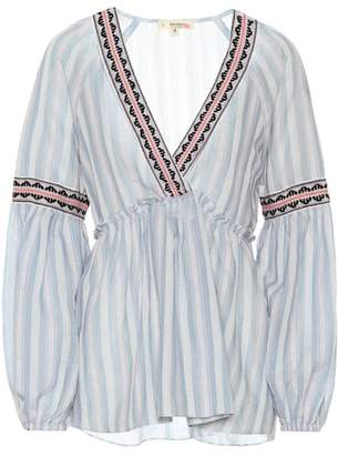 Lemlem Nefasi striped cotton-blend blouse