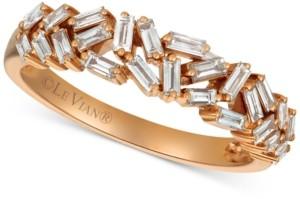 LeVian Le Vian Diamond Baguette Statement Ring (1/2 ct. t.w.) in 14k Rose Gold
