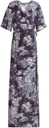Dagmar House Of Charmeuse Maxi Wrap Dress