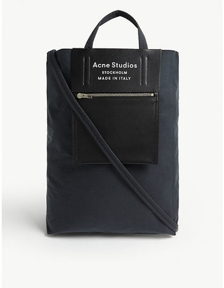 Acne Studios Baker nylon and leather tote bag