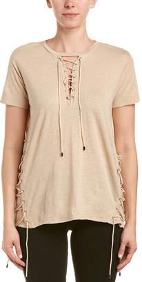 Haute Hippie Lace-Up T-Shirt