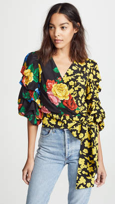 Alice + Olivia Dominica Reversible Blouse