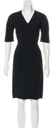 Fendi Solid Sheath Dress Black Solid Sheath Dress