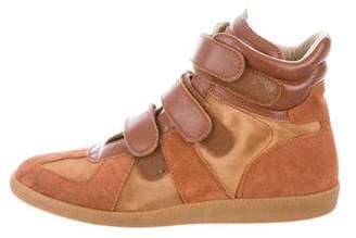 Maison Margiela Mesh & Suede Low-Top Sneakers