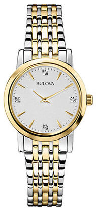 Bulova Ladies' Diamond and Two-tone Stainless Steel Watch-?98P115 $299 thestylecure.com