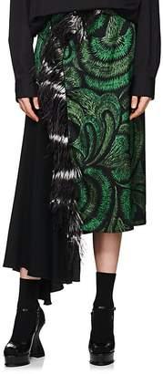 Dries Van Noten Women's Feather-Trimmed Skirt