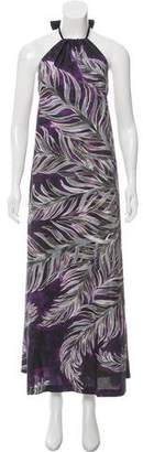 Tome Printed Halter Dress w/ Tags